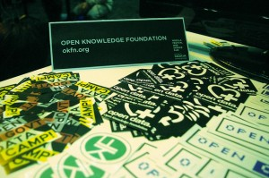 Open Knowledge variety of stickers
